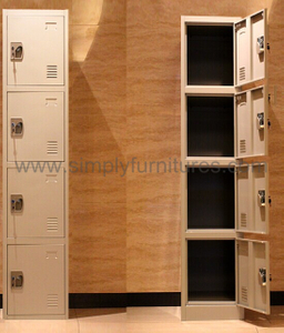 heavy duty steel locker with 4 doors